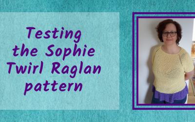 Testing the Sophie Twirl Raglan pattern